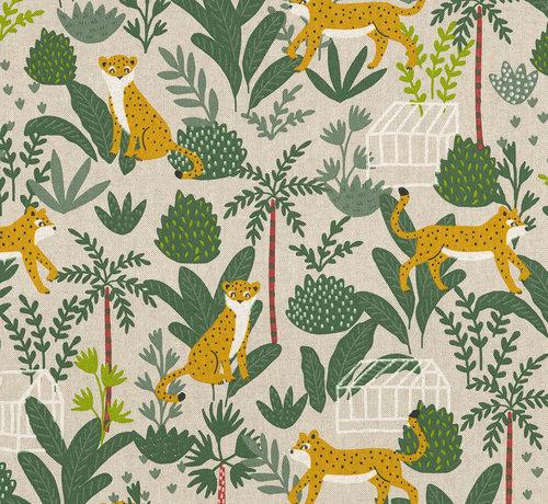 Decostoffen Jungle luipaard linnenlook