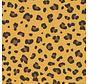 Panterprint geel op ottoman stof