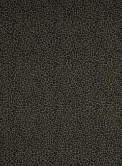 Decostoffen panterprint groen tricot