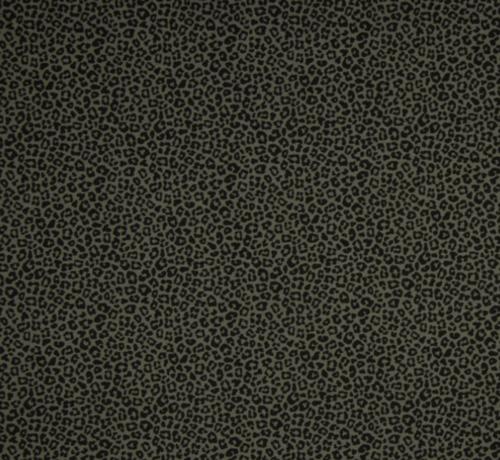 Decostoffen panterprint tricot groen