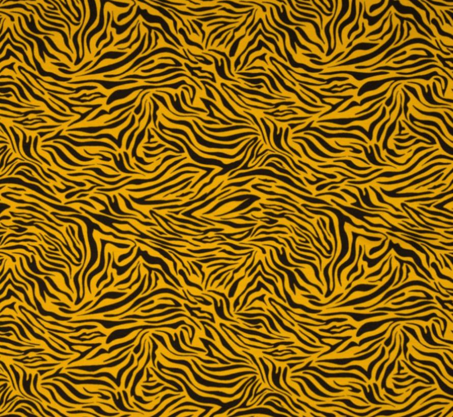 okergele zebraprint tricot