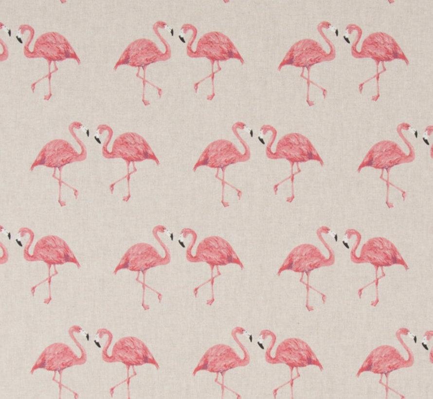 Flamingo's op linnenlook stof