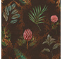 Barok bruin velvet digitale print