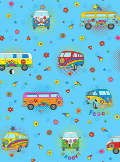Decostoffen Hippie volkswagen bus digitale print