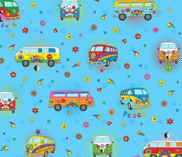 Decostoffen Hippie volkswagen bus digitale print