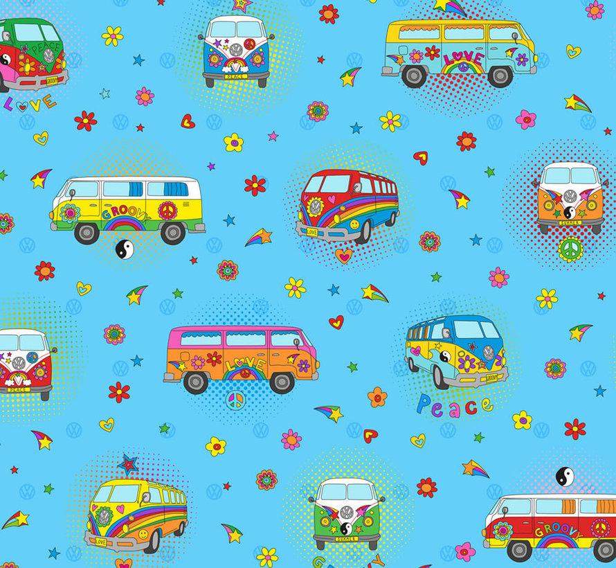 Hippie volkswagen bus digitale print