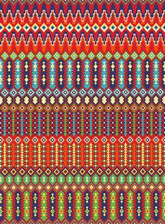 Decostoffen Frida Kahlo grafisch ottoman