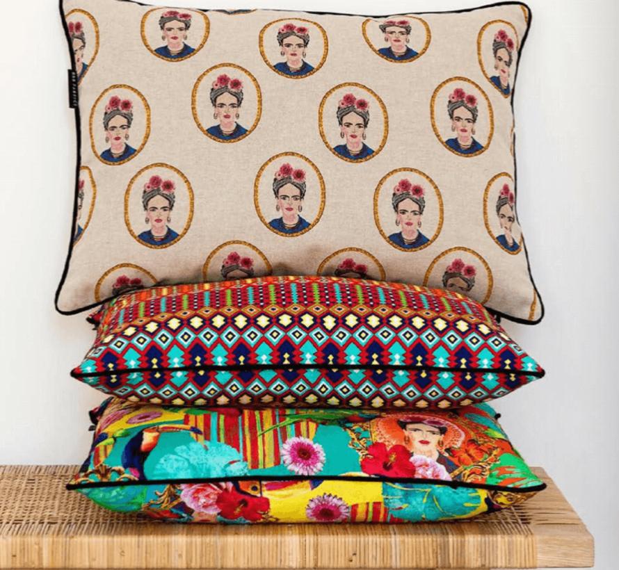Frida Kahlo grafisch ottoman