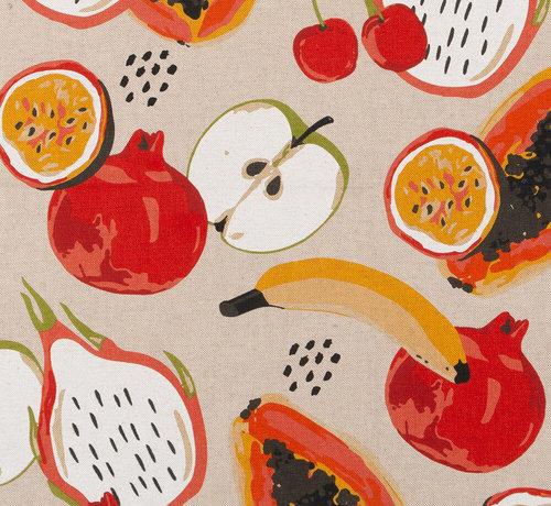 Decostoffen Fruit linnenlook