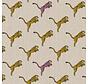 Luipaarden geel en roze linnenlook