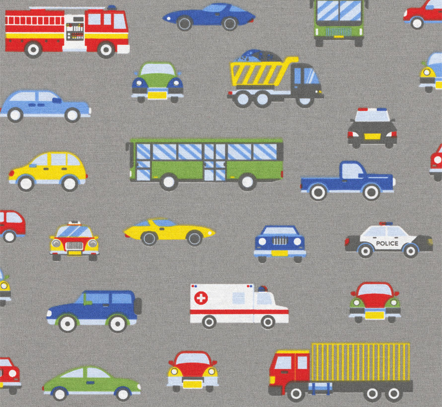 Autoweg grijs ottoman