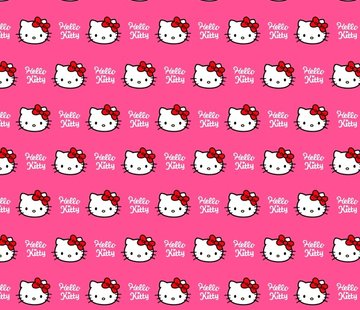 Decostoffen Roze Hello Kitty