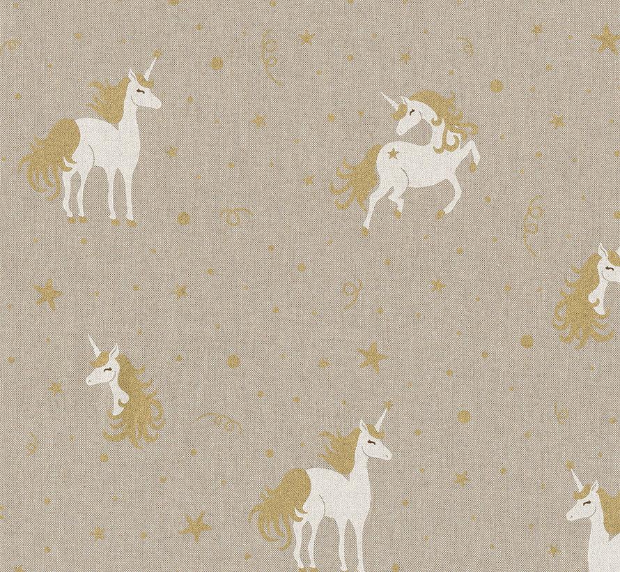 Unicorn goud linnenlook