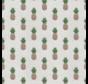 Ananas print op linnenlook stof