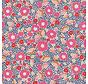 Roze bloemen ottoman