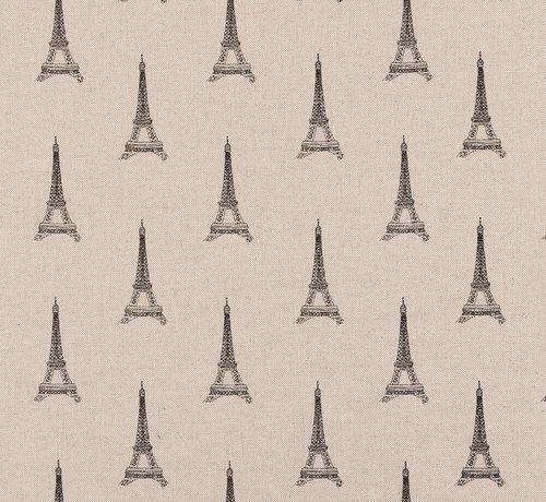 Decostoffen Eiffeltoren linnenlook