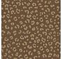 Goud panterprint patroon op een bruine half panama stof