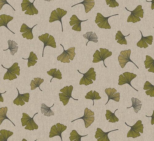 Decostoffen Botanische bladeren linnenlook stof