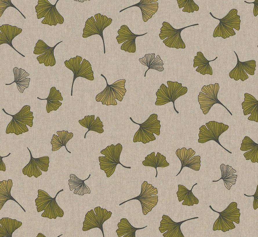 Botanische bladeren linnenlook stof