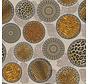Tijgerprint en panterprint in mandela's op linnenlook stof