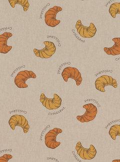 Decostoffen Croissant linnenlook