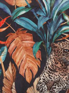 Decostoffen Tropical leopard velvet deluxe