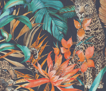 Decostoffen Tropical leopard digitale print