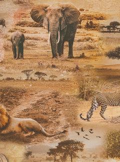 Decostoffen Safari big five digitale print