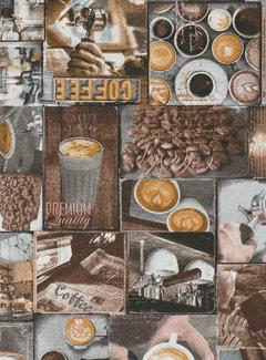 Decostoffen Barista koffie ottoman stof