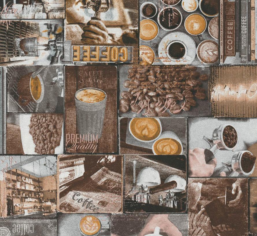 Barista koffie ottoman stof