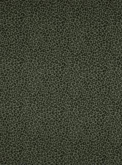 Decostoffen Donkergroene panterprint poplin stof