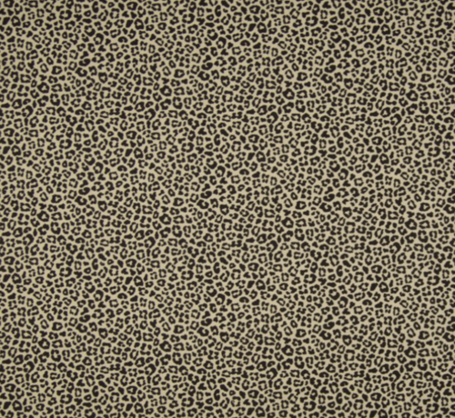 Decostoffen Sand panterprint poplin stof