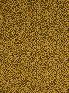 Decostoffen Okergele panterprint poplin stof