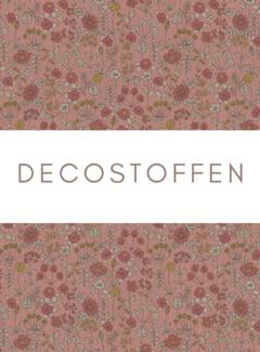 Decostoffen Bloemen roze linnenlook