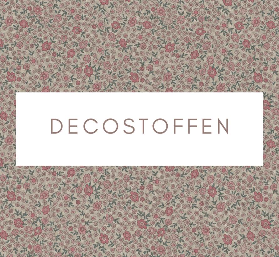 Bloemen roze mini linnenlook