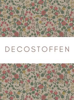Decostoffen Bloemen kleur linnenlook