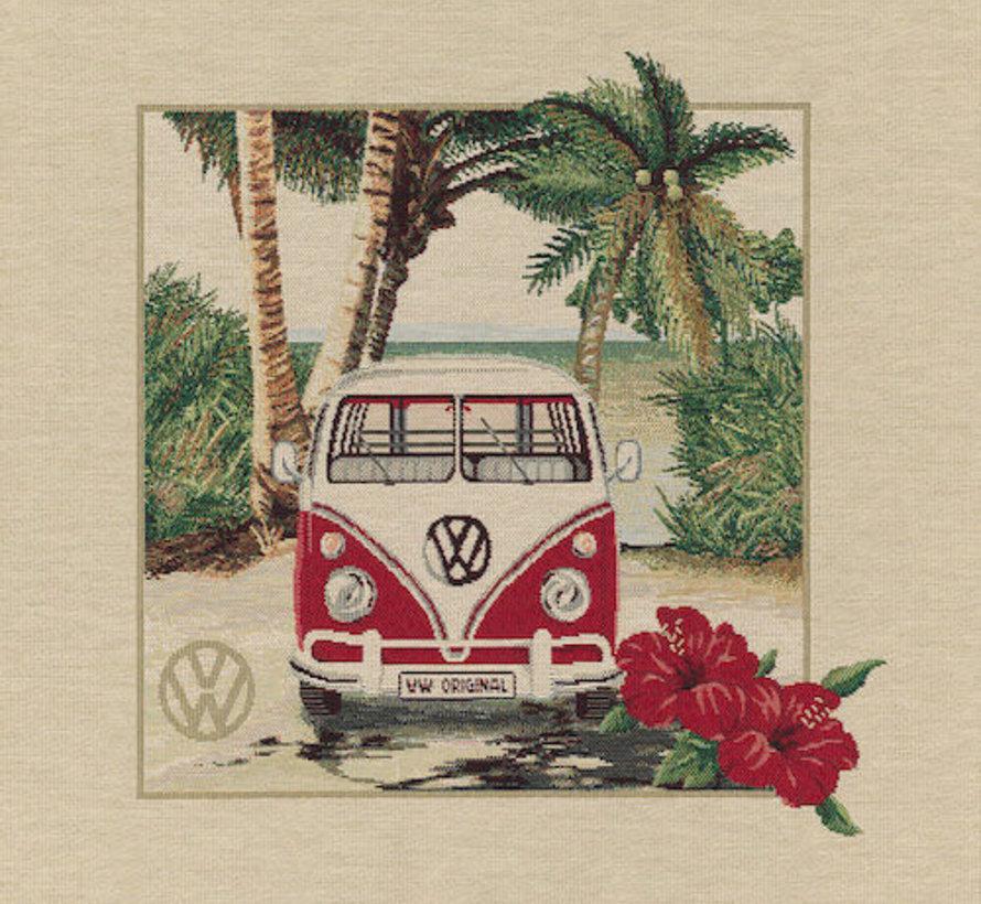 Volkswagen flower kussenpanel