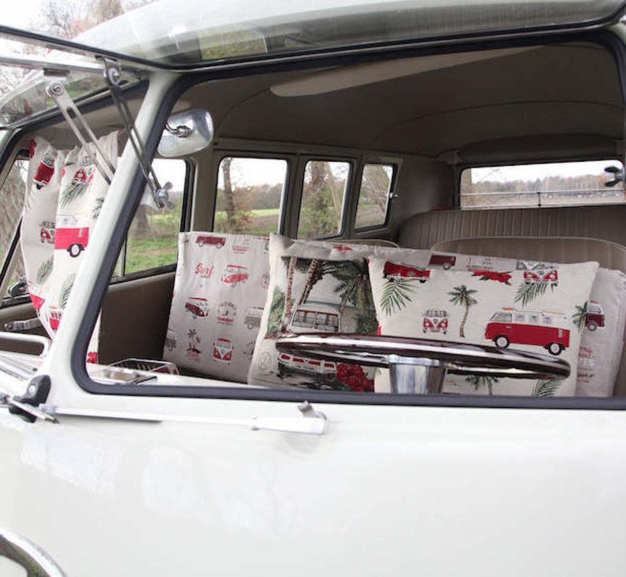 Volkswagen bloemen gobelin stof meubelstof