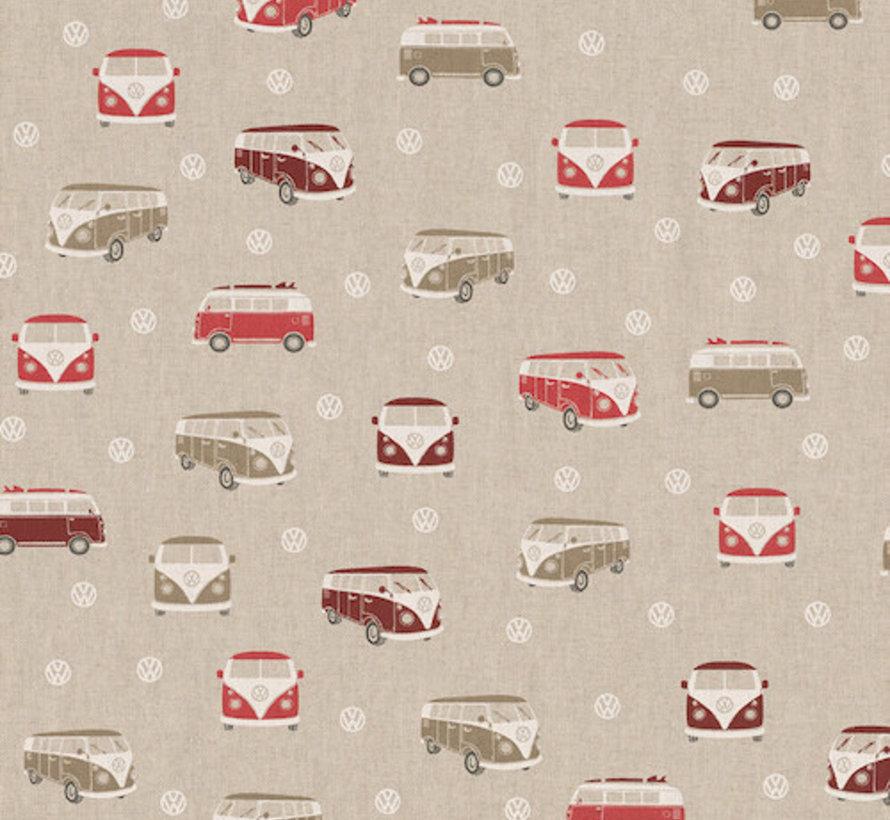 Rode volkswagen linnenlook