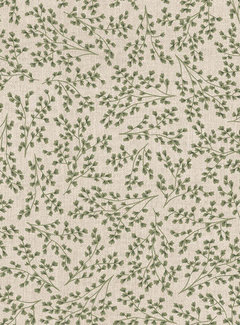 Decostoffen Scandinavische bladeren linnenlook