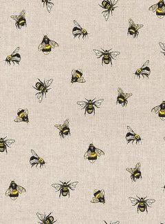 Decostoffen Bijen linnenlook