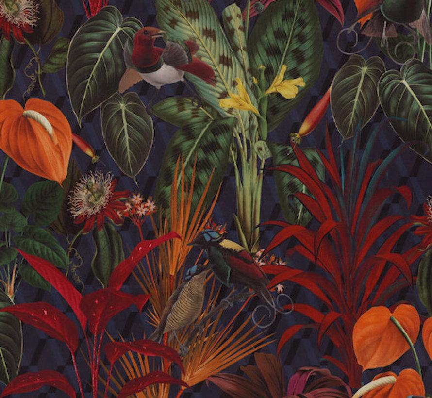 Jungle donker velvet digitale print