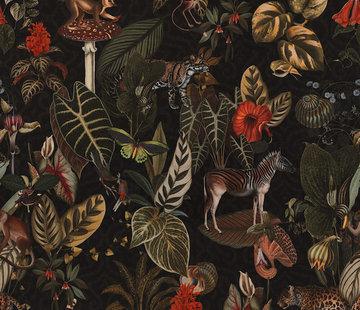 Decostoffen Jungle dieren velvet digitale print