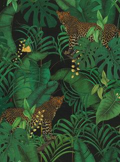 Decostoffen Jungle luipaard velvet digitale print