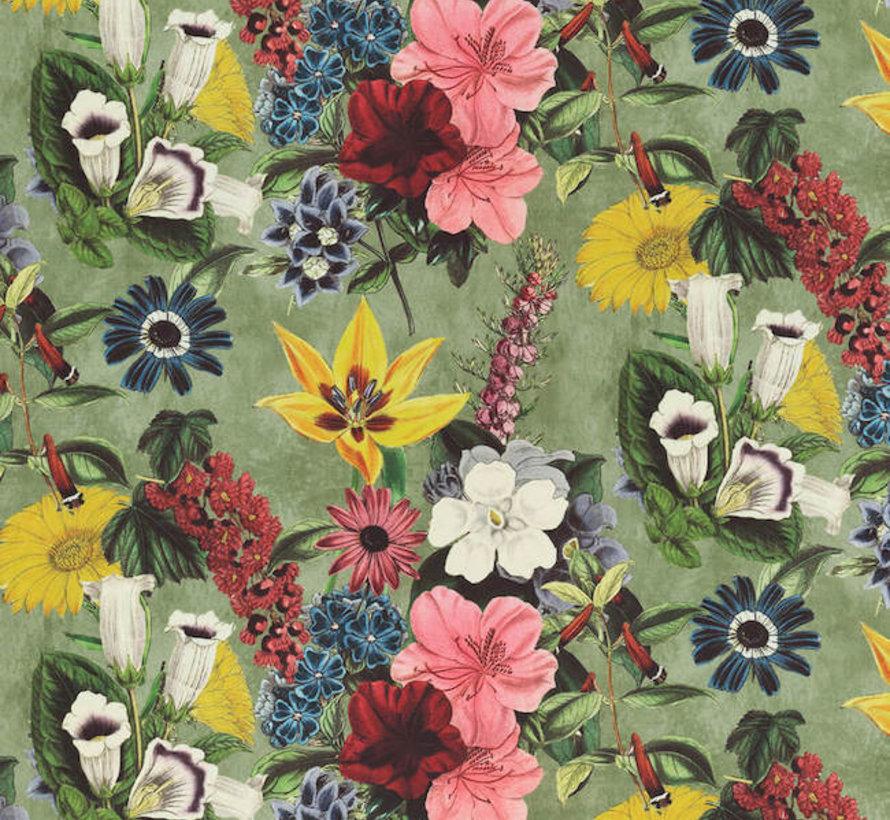 Vintage bloemenprint velvet digitale print