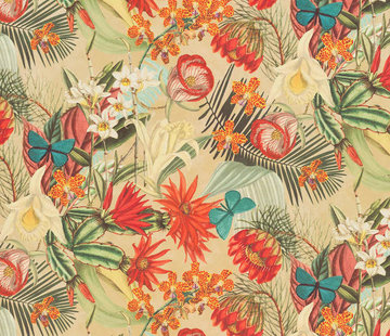 Decostoffen Tropical velvet digitale print