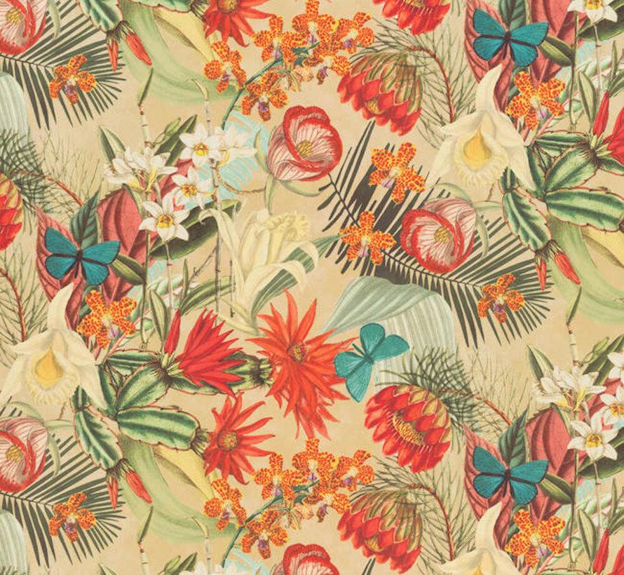 Tropical velvet digitale print