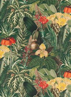 Decostoffen Tropical planten velvet digitale print stof