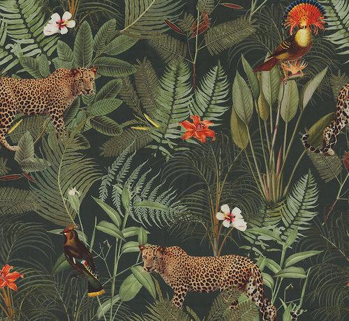 Decostoffen Luipaard tropical velvet digitale print stof