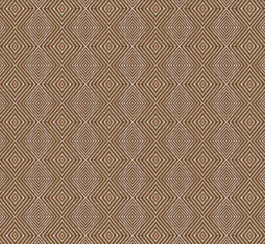 Geometrisch bruin linnenlook